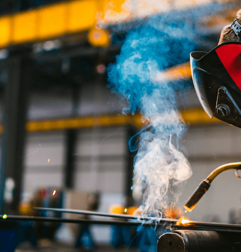 gas and odor production from spot welding, welding shop smoke, machine shop gas fumes, machine shop odors, air purification needs